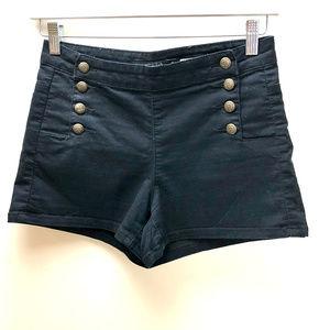 LOVEsick Black High Waisted Shorts Size 3
